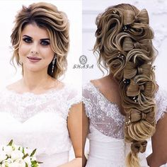 12 Wedding hairstyles for long hair. #wedding #weddinghairstyle