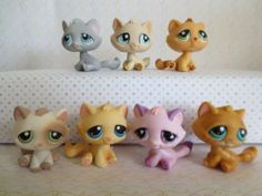 Littlest Pet Shop Lot of 7 Tabby Cats 177 300 576 1364 197 747 122 Lps Cats, Tabby Cats, Little Pets, Pet Shop, Hello Kitty, Childhood, Cute, Ebay, Collection