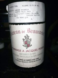 """Wonder what a perfect #wine is? this 1990 Chateauneuf du Pape is in the zone"" Château de #Beaucastel"