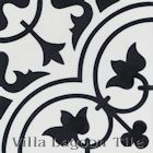 """""""Tulips B Black and White Morning"""" Cement Tile, from Villa Lagoon Tile."""
