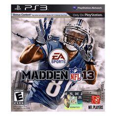 Madden NFL 13 for Playstation 3, Multicolor
