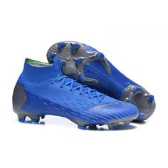d4d67c078 Custom Nike Soccer Cleats - Nike Mercurial Superfly VI 360 Elite FG Blue  Dark Grey - New Football Boots - Firm Ground - Mens