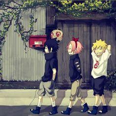 Sasuke,Sakura and Naruto by jfqp on DeviantArt Naruto And Sasuke, Kakashi, Naruto Team 7, Naruto Uzumaki, Anime Naruto, Naruto E Sakura, Manga Anime, Naruto Family, Gaara
