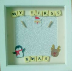 items similar to my christmas frame babys first xmas frame gift xmas keepsake personalised xmas frame on etsy