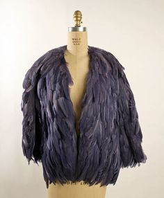 A 1933 coq feather jacket by Charelle, Inc.
