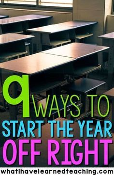 Are you ready to head back to school yet?  Here are 9 ways that you can start the year off right.  These strategies will help you set the foundation for your classroom and create a space where you and your students will want to be every day of the school