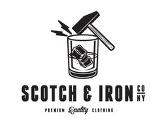 Awesome logo although who puts their scotch on the rocks?