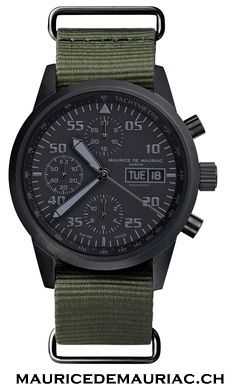 Modern style Swiss made watch from Maurice de Mauriac. Swiss luxury watches for men. Check out our website for more hand crafted Swiss watches: http://mauricedemauriac.ch/