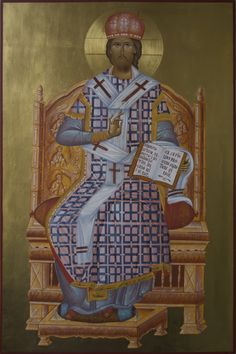 Byzanticon is creating Iconography Paintings Byzantine Icons, Jesus Christ, Saints, Wood, Painting, Woodwind Instrument, Timber Wood, Painting Art, Paintings