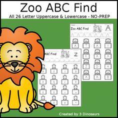 Zoo ABC Letter Find Teaching Activities, Hands On Activities, Classroom Activities, Teaching Resources, Alphabet Activities, Teaching Ideas, Letter Worksheets, Preschool Worksheets, Hello Teacher