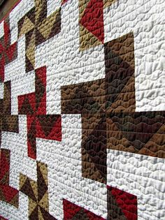 Wavy and Straight Line Quilting