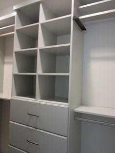 Closet Creations built this white custom master closet!