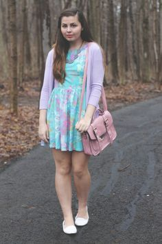 Water color-esque dress from USTrendy.com <3