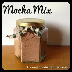 I posted my chocolate milk powder and my hot chocolate mix recently. Here is a mocha version. I dont drink coffee but my friends that do say this tastes nice.