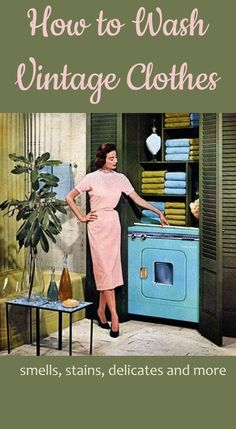 How To Wash Vintage Clothes Browse free vintage patterns, retro hair tutorials and affordable vintage clothing. Enjoy diy fashion crafts and classic style inspiration Vintage Clothing Styles, Vintage Style Outfits, Vintage Dresses, Vintage Fashion, Diy Fashion, Club Fashion, 1950s Dresses, 1950s Fashion, Fashion Dresses