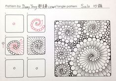 Zentangle pattern -SALO Sharo @ damy 的 快乐 casually patchwork embroidery Zen wrapping :: 痞 客 邦 :: Zentangle Drawings, Doodles Zentangles, Zentangle Patterns, Doodle Drawings, Doodle Art, Zen Doodle Patterns, Tangle Doodle, Tangle Art, Arte Sharpie