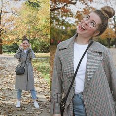 Get this look: http://lb.nu/look/8872321  More looks by Elaine Hennings: http://lb.nu/dontbearunaway  Items in this look:  Topshop Trenchcoat, Ralph Lauren Shirt, Fossil Bag, Ace & Tate Glasses, Pull & Bear Mom Jeans, Adidas Shoes   #casual #sporty #street