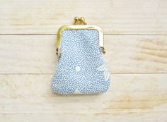 Kiss lock coin purse mini tiny wallet pouch clip by poppyshome