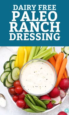 dairy free This easy paleo ranch comes together in no time. Dairy free, gluten free, paleo and keto approved! Paleo Ranch Dressing, Homemade Ranch Dressing, No Dairy Recipes, Paleo Recipes, Paleo Recipe Videos, Quick Recipes, Egg And Grapefruit Diet, Healthy Dinner Recipes, Eating Clean