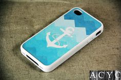 Cute Anchor iPhone 4S/4 Case,iPhone 5 Case,iPod Touch 5 and 4 Case,and Samsung Galaxy Phone Case on Etsy, $12.00
