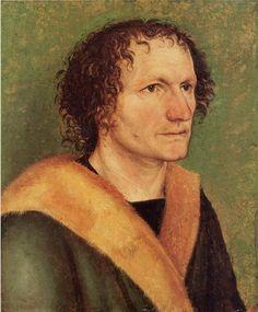 Albrecht Dürer ~ Male portrait before green base, c.1497