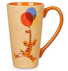 DISNEY AUTHENTIC 12 oz COFFEE TIGGER BALLOONS LATTE MUG TEA CUP WINNIE THE POOH