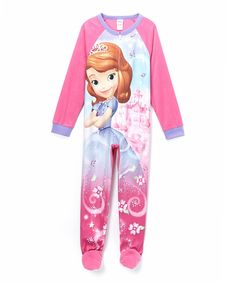Look at this Pink Sofia the First Footie - Girls on #zulily today!