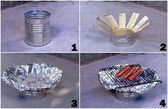DIY can grill