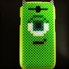 Mike Monsters Inc phone cover perler beads by seoyeon0612