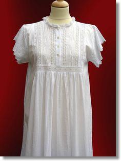 White nightdress