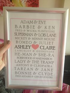 DIY wedding present for my friends- so cute! X
