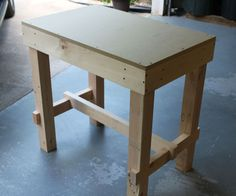 This is a simple little collapsible workbench/assembly table I made. The dimensions may seem strange but it was as large as I could get it while still fitting under my ...