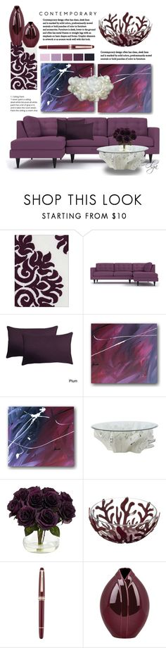 """Deep Purple Homeset"" by olga1402 on Polyvore featuring interior, interiors, interior design, home, home decor, interior decorating, Jayson Home, Nearly Natural, Alessi and Montblanc"