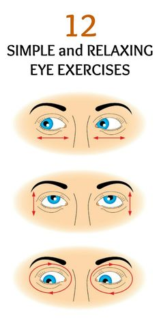 Did you know that you can exercise your eyes as well? Eye exercises will keep your eyes healthy and help minimize eyestrain.