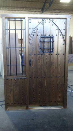 Puerta clasica dos hojas montante cristal con herrajes - Puertas muy baratas ...
