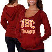 USC Trojans Ladies Marcia Hoodie Sweatshirt - Cardinal