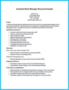 Project Manager Resume For Bank Sample Customer Service Resume Bank Manager  Resume Assistant Bank Manager Resume  Bank Manager Resume