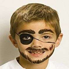 Pirate - Fun Face Paint Ideas - How to Face Paint - Snazaroo