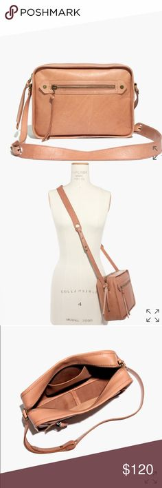 NWOT Madewell Brisbane Crossbody Worn twice. Markings on front and back came with the bag. Beautiful blush color. Reasonable offers considered😊 Madewell Bags Crossbody Bags