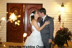 The exit--with sparklers--Arbuckle Wedding Chapel
