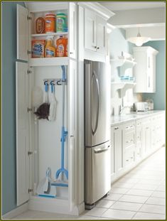Superbe Image Of Broom Closets: Tips To Keep Cleaners And Cleaning Supplies  Well Organized