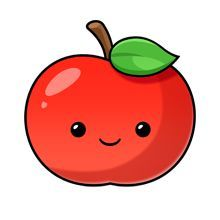 A whole website of cute graphics! More - kawaii apple