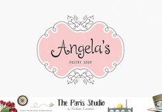 Premade #logodesign floral vintage frame logo #wordpress website logo blog logo #branding