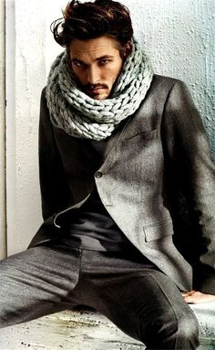 Only a few men could pull off the oversized scarf