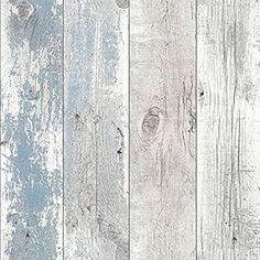 Madera papel pintado azul náutico 670508