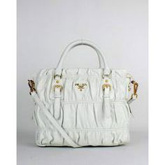 SG$300.00 Buy Prada Grufre Nappa Leather Top Handle Bags 5011 Rich White E Store
