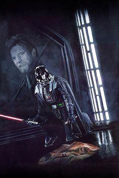 "Star Wars Darth Vader Limited Edition Print - ""You were my Brother too . Star Wars Fan Art, Star Trek, Darth Vader, Anakin Vader, Luke Skywalker, Walt Disney Pictures, Obi Wan, Star Wars Brasil, Star Wars Personajes"