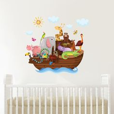 NOAH S ARK WALL STICKER MURAL DECAL NURSERY DECOR FREE SHIPPING UK SELLER