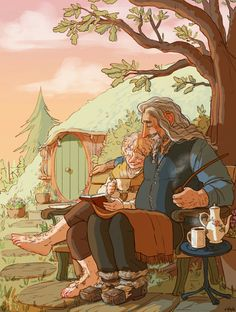 A story of a, not so, lone wanderer Hobbit Art, O Hobbit, Hobbit Hole, Lotr, Fili Et Kili, Bagginshield, Jrr Tolkien, Legolas, Fauna