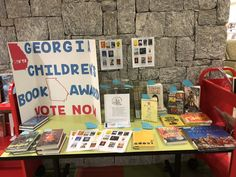 Check out this amazing display at Milton Public Library! Students are voting now through January Children's Book Awards, Innovative Research, Vote Now, University Of Georgia, Childrens Books, January, Students, Public, Display